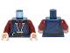 Part No: 973pb1150c01  Name: Torso LotR Vest Long with Dark Red Shirt and Brown Belt Pattern (Boromir) / Dark Red Arms / Light Flesh Hands