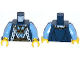 Part No: 973pb1521c01  Name: Torso Castle King Robe with Fur Trim and Gold Chain with Crown Pattern / Medium Blue Arms / Yellow Hands