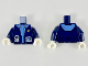 Part No: 973pb3188c01  Name: Torso Jacket with Monitor Device Pattern / Dark Blue Arms / White Hands