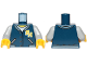Part No: 973pb3331c01  Name: Torso Ninjago Jacket, White Undershirt, Yellow 'N and 'H' Letters Pattern / Light Bluish Gray Arms / Yellow Hands