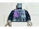 Part No: 973px139c02  Name: Torso Alpha Team Logo, Purple Shirt and 3 Pockets on Belt Pattern / Dark Blue Arms / Light Gray Hands
