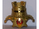 Part No: 54032pb01  Name: Duplo Wear Head Armor with Gold Crown and Gold Breastplate and Phoenix Pattern