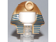 Part No: 90462pb01  Name: Minifig, Headgear Headdress Mummy with Dark Blue Stripes Thin Pattern