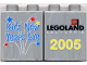 Part No: 4066pb200  Name: Duplo, Brick 1 x 2 x 2 with Kids' New Year's Eve 2005 Pattern