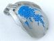 Part No: 41671pb08  Name: Bionicle Bohrok Windscreen 4 x 5 x 7 with Blue Scales and Gahlok-Kal Logo
