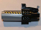 Part No: 60932cx1pb01  Name: Bionicle Weapon Midak Skyblaster with Black Housing and '26-0786' and Black and Yellow Danger Stripes Pattern on Both Sides (Stickers) - Set 8864