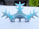 Part No: 64266pb01  Name: Bionicle Weapon Ice Shield Half with Marbled Trans-Light Blue Pattern