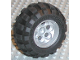 Part No: 6595c01  Name: Wheel 49.6 x 28 VR with Axle Hole, with Black Tire 56 x 30 R Balloon (6595 / 32180)