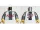 Part No: 973pb0007c01  Name: Torso Coca-Cola Logo with Black Stripe Pattern / Flat Silver Arms / Yellow Hands