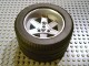 Part No: 22969c05  Name: Wheel 62mm D. x 46mm Technic Racing Large, with Black Tire Technic Racing Large (22969 / 32296)