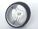 Part No: 32077c01  Name: Wheel 70 x 28 mm Futuristic with Black Tire 70 x 28 mm Futuristic (32077 / 32078)