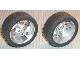 Part No: 32197c01  Name: Wheel 81.6 x 34 ZR Three Spoke Swirl, with Black Tire 81.6 x 34 ZR Thin Sporty Tread (32197 / 32196)