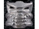 Part No: 42042wmkk  Name: Bionicle Krana Mask Xa, White Metal Krana-Kal