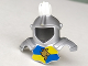 Part No: 51728pb01  Name: Duplo Wear Head Armor with White Top Feather and Blue and Yellow Breastplate with Lion and Crown Pattern