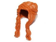 Part No: 13750  Name: Minifigure, Hair Female Long, Braided on Right, Hole on Top