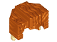 Part No: 15557pb01  Name: Minifig, Hair Trapezoid Swept Back with Tan Ends Pattern