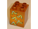 Part No: 31110pb035  Name: Duplo, Brick 2 x 2 x 2 with Five Worms Pattern