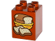Part No: 31110pb113  Name: Duplo, Brick 2 x 2 x 2 with Loaf of Bread in Basket and 2 Slices Pattern
