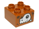Part No: 3437pb084  Name: Duplo, Brick 2 x 2 with Dinosaur Skull Pattern