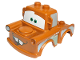 Part No: 88764pb01  Name: Duplo Car Body 2 Top Studs Truck with Cars Tow Mater Pattern
