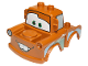 Part No: 88764pb02  Name: Duplo Car Body 2 Top Studs Truck with Cars Tow Mater Black Window Outline Pattern