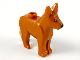 Part No: 92586pb02  Name: Dog, Alsatian / German Shepherd with Black Eyes and Nose Pattern