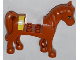 Part No: 93083c01pb04  Name: Horse with 2 x 2 Cutout, Blue Eyes and White Blaze with Bandage Pattern (Sticker) - Set 3188