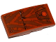 Part No: 93606pb033  Name: Slope, Curved 4 x 2 No Studs with Tiger Stripes, Armor Plates and Rivets Pattern (Sticker) - Set 70143