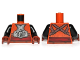 Part No: 973pb1168c01  Name: Torso SW Armor Plates with Back Straps and Dark Red Sash Pattern / Black Arms / Reddish Brown Hands