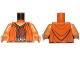 Part No: 973pb1693c01  Name: Torso SW Jedi Robe, Dark Tan Belt and Reddish Brown Undershirt Pattern (Ithorian Jedi) / Medium Dark Flesh Arms / Medium Dark Flesh Hands