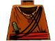 Part No: 973px185  Name: Torso Adventurers Orient Striped Collar, Crossbelt, Sash, Knife Pattern