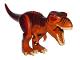 Part No: TRex02  Name: Dino T-Rex with Dark Red and Dark Brown Back - Complete Assembly