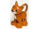 Part No: dupcat1pb01  Name: Duplo Cat Standing with White Chest and Mouth, Darker Orange Stripes Pattern