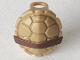 Part No: 12609pb01  Name: Minifigure, Turtle Shell with Dark Brown Horizontal Belt Pattern