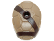 Part No: 16643pb001  Name: Minifigure, Turtle Shell with Stud with Dark Brown Horizontal and Diagonal Belt Pattern