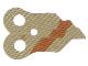 Part No: 18168pb01  Name: Minifigure, Armor Pauldron Cloth, Tattered with Dark Orange Boba Fett Stripe Pattern