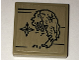 Part No: 3068bpb1023  Name: Tile 2 x 2  with Map Dragon Shaped Island and Compass Pattern (Sticker) - Set 70594