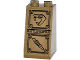 Part No: 3684cpb016  Name: Slope 75 2 x 2 x 3 - Solid Studs with Snake Head Looking Left and Serrated Blade Sword Bas-Relief Sculpture Pattern (Sticker) - Set 70748