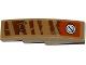 Part No: 61678pb080L  Name: Slope, Curved 4 x 1 No Studs with Tiger Stripes, Armor Plates, Rivets and Filler Cap Pattern Model Left Side (Sticker) - Set 70220