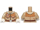 Part No: 973pb1315c01  Name: Torso SW Hoth Rebel Jacket with Pockets and Brown Belt Pattern / Dark Tan Arms / White Hands