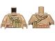 Part No: 973pb2814c01  Name: Torso SW Hoodie Jacket with Large Central Pocket and Olive Green Pocket on Shoulder Strap Pattern (Resistance Trooper) / Dark Tan Arms / Dark Tan Hands
