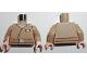 Part No: 973pb2866c01  Name: Torso SW Jacket with Resistance Lieutenant Rank Badge and Medium Dark Flesh Belt Pattern / Dark Tan Arms / Light Flesh Hands