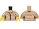 Part No: 973pb3333c01  Name: Torso Ninjago Female Fair Isle Sweater with Zip Pattern / Dark Tan Arms / Yellow Hands