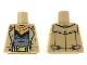 Part No: 973pb3365  Name: Torso Trenchcoat, Dark Gray Shirt, Gold Belt Pattern