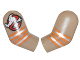 Part No: 981982pb100  Name: Arm, (Matching Left and Right) Pair with Ghostbusters Logo and Orange and Silver Stripes Pattern