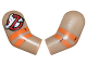Part No: 981982pb101  Name: Arm, (Matching Left and Right) Pair with Ghostbusters Logo and Orange Stripes Pattern
