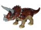 Part No: Tricera01  Name: Dino Triceratops with Reddish Brown Back - Complete Assembly