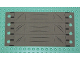 Part No: x1837px1  Name: Cloth Truck Cover with Sectioned Panels Pattern, 4 Holes each Side