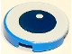 Part No: 14769pb273  Name: Tile, Round 2 x 2 with Bottom Stud Holder with Center Dark Blue Eye with White Pupil Pattern