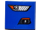 Part No: 15068pb056R  Name: Slope, Curved 2 x 2 No Studs with Ford Mustang Headlight / Fog Light Pattern Model Right Side (Sticker) - Set 75871